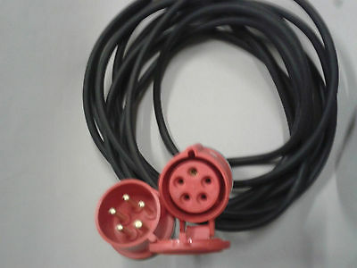 20 Mtr 3 Phase 16A 5 Pin Extension Lead
