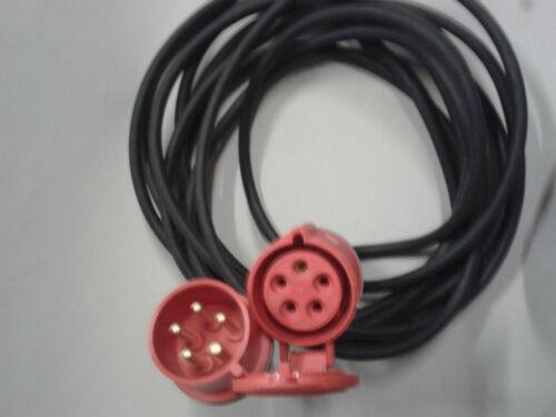 16Amp 400 Volt trifase 5 Pin connessione di Estensione Piombo Cavo 16Amp 5x2.5 mm