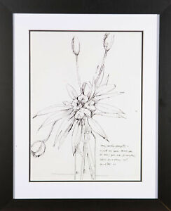 Peter-Collins-ARCA-20th-Century-Pen-and-Ink-Drawing-Just-A-Note-To-Say