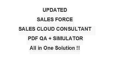 Salesforce Certified Sales Cloud Consultant SU18 Test CRT-251 Exam QA PDF+SIM