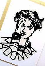 """MADONNA Original Pop Art, Music Celebrities 5""""X 7"""" inches Vinyl Sticker Portrait"""