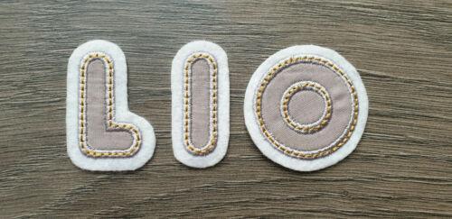 Buchstaben Zahlen ABC # Name Aufbügler Aufnäher Bügel Applikation Patch Flicken