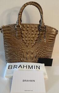 275-New-BRAHMIN-Duxbury-Satchel-Riviera-Melbourne-Genuine-Leather-HandBag