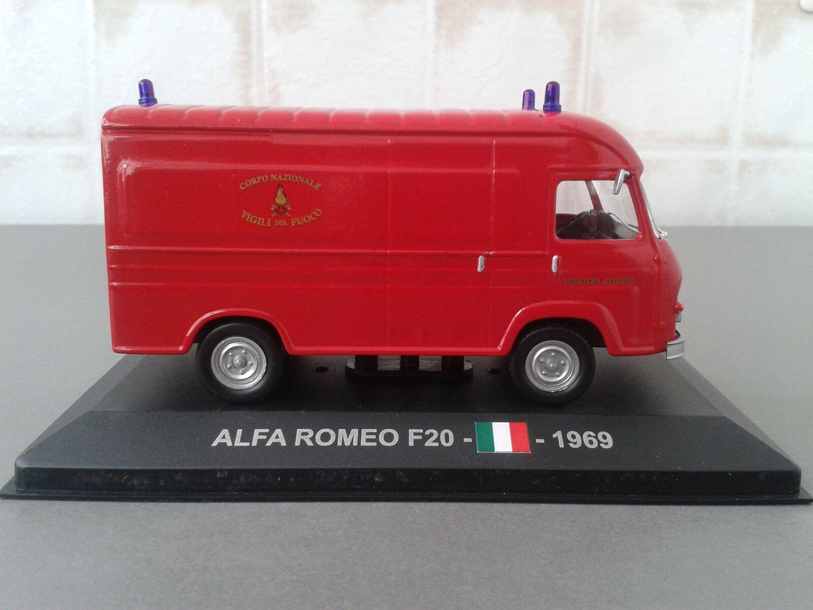 VIGILI DEL FUOCO -POMPIERI -FIRE ENGINE- ALFA ROMEO F20 FURGONE 1/43 -