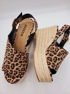 soda leopard wedges