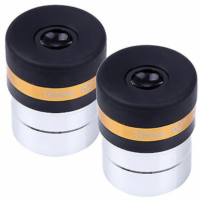 "2PCS 1.25"" 31.7mm Eyepiece Lens 10mm Fully Coated for Astronomical Telescope New"