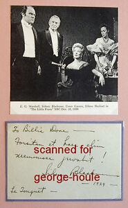 SIDNEY BLACKMER - AUTOGRAPH SENTIMENT - 1929 - BILLIE DOVE - TEDDY ROOSEVELT