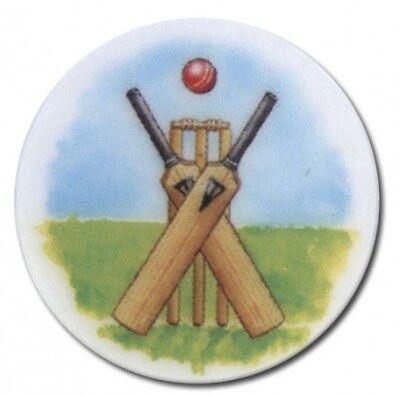 Cricket Trophy Centres - 2.5cm Fits Standard Trophies & Medals