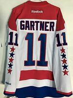 Reebok Premier Nhl Jersey Washington Capitals Mike Gartner White Sz 2x