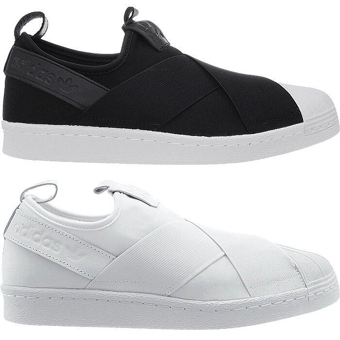 Adidas Superstar blanco slipon señores low-Top zapatillas negro o  blanco Superstar o casuales d10566