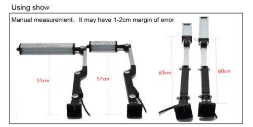 8W Bridgeport Swing Arm LED Lighting 12-24V Stand Bench Worklight CNC Milling