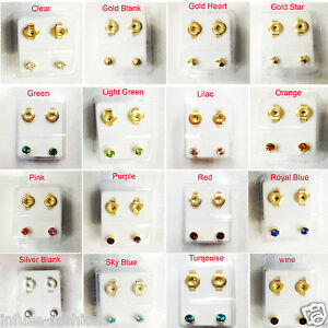 Image Is Loading Brand New Ear Piercing Studs Earrings Stud Sterile