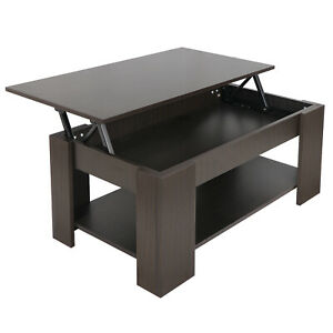 Lift-Top-Coffee-Table-w-Hidden-Compartment-and-Storage-Shelves-Modern-Furniture