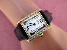 CARTIER WATCH 18K G STAINLES Ladies Cartier Tank Vermeil Must CARTIER W/DIAMONDS