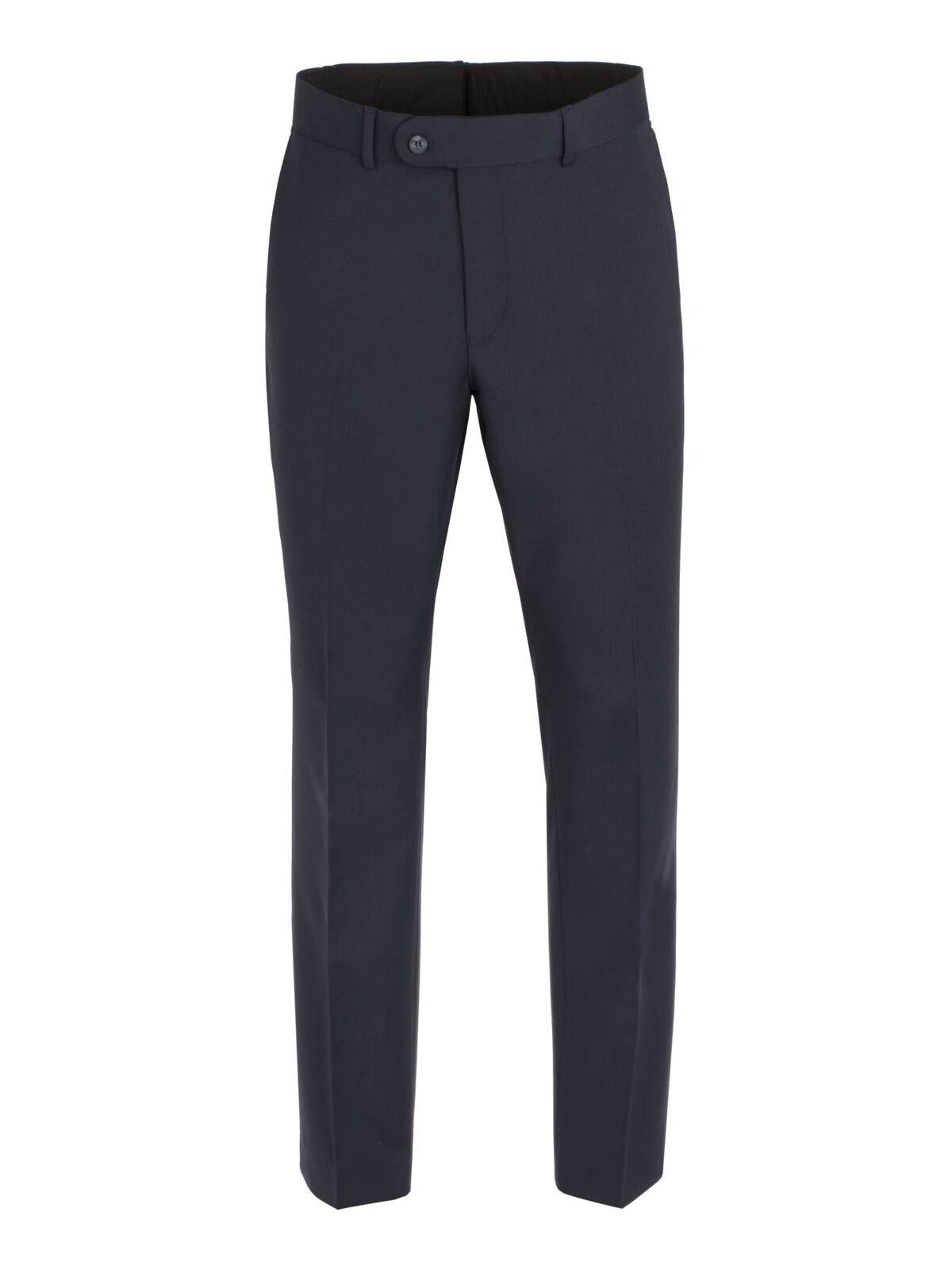 Scott Da Extra Uomo Extra Da Alto Misto Lana Piatto Anteriore Suit  Pantaloni in Blu Scuro e106fa 7eaeb9d71989
