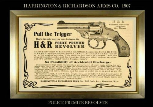 MAGNET Firearms Ad HARRINGTON /& RICHARDSON Arms Co.1907 Police Revolver