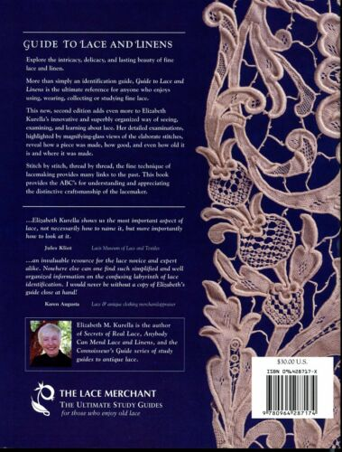GUIDE TO LACE AND LINENS  by Elizabeth Kurella