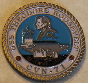 US NAVY CVN-71 Challenge Coin USS THEODORE ROOSEVELT