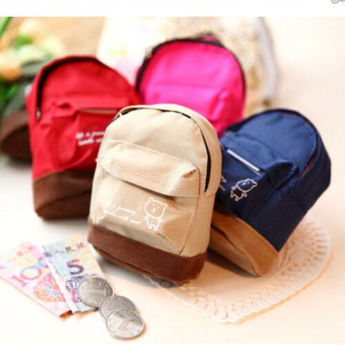 Mini Small Cute Women Lady Girl Pouch Coin Purse Backpack Canvas Bag Wallet、Pop