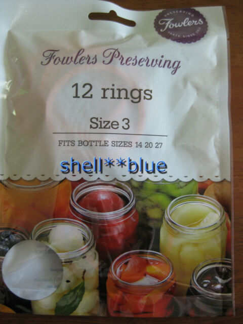 Fowlers Vacola  Preserving Rings size 3  BRAND NEW