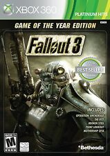NEW Fallout 3 (Game of the Year Edition) Xbox 360