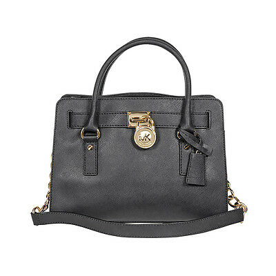 Michael Kors Hamilton Satchel Handbag in Black MK30S2GHMS3L-001