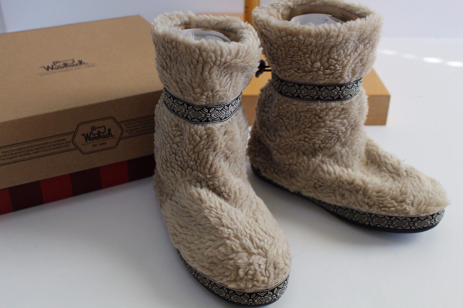 Woolrich Whitecap Peyote Boot Slippers Women's Size 6 Bootie Fleece Lined NIB