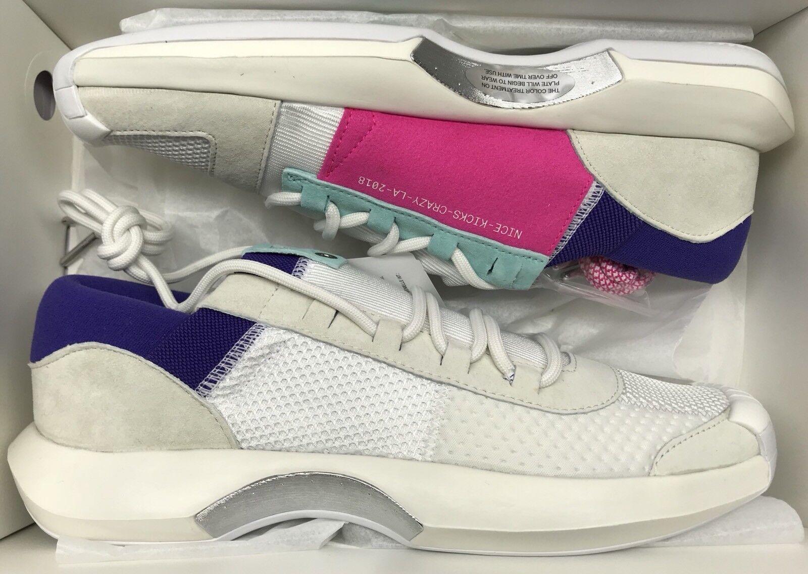 Adidas Crazy 1 ADV NICEKICKS Off White Aqua Pink Consortium NMD DB1786 Sz 8.5