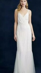 Harper Beaded Mermaid Wedding Gown Size