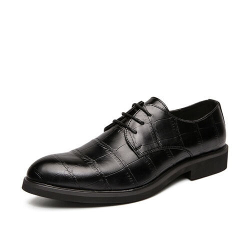 Details about  /Mens Business Faux Leather Shoes Pointy Toe Oxfords Work Office Wedding Casual L