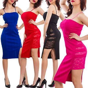 Vestito-donna-elegante-tubino-miniabito-corto-aderente-spacco-pizzo-sexy-VB-3658