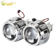 2X 2.5'' LHD Mini Bi-xenon HID Projector Kit Lens Shroud Headlight Kit H1 H4 H7