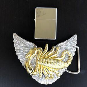 Wings-LIGHTER-Belt-Buckle-3D-Removable-Lighter-Plain-High-Quality