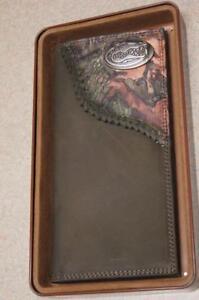 ZEP-PRO Florida Gators Mens Roper Leather Fence Row Camo Wallet GIFT TIN BOX