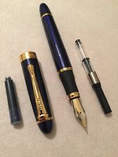 JINHAO X450 BLUE GT FOUNTAIN PEN-MEDIUM NIB- CONVERTER-BLUE CARTRIDGE UK STOCK
