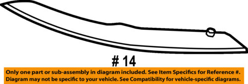 BMW OEM 14-18 X5-Bumper Trim-Reflector Left 63147290091