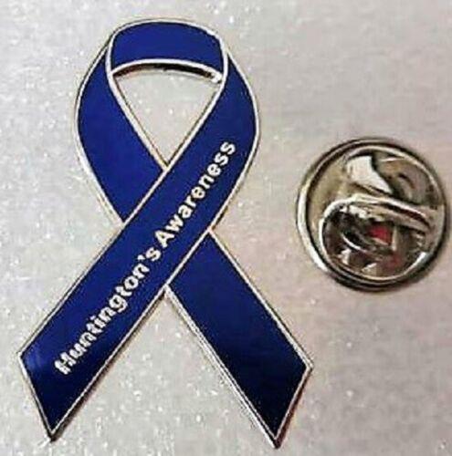 brooch.Charity. ***NEW***  Huntington/'s Disease Awareness ribbon enamel badge