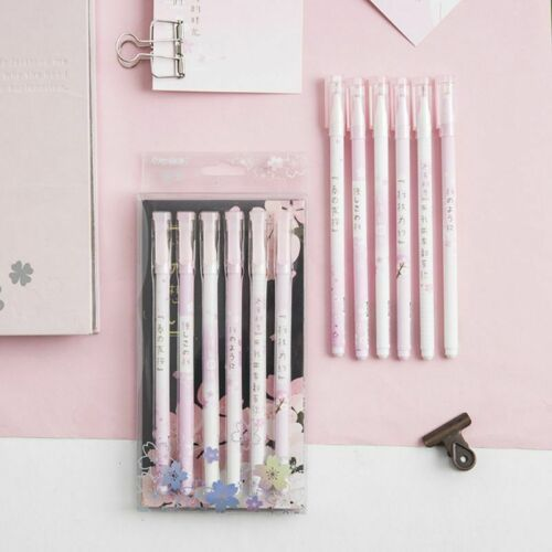 Fashion Cherry Blossom Gel Pen Creative Student Stationery Office Writing Pen