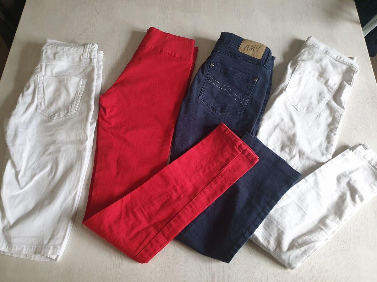 Bukser, 4 par, DXEL, H&M mm, str. 152, Sælges samlet til