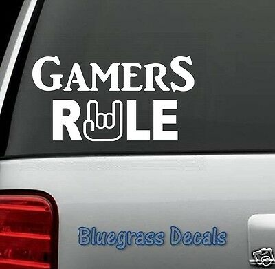 C1005 GAMERS RULE GAMING DECAL STICKER XBOX WII PS3 PS4 ART