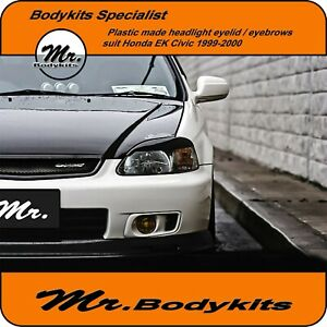 Mr-Plastic-Headlight-Eyebrows-Eyelid-Eye-Lid-Suit-Honda-Civic-1999-2000-EK