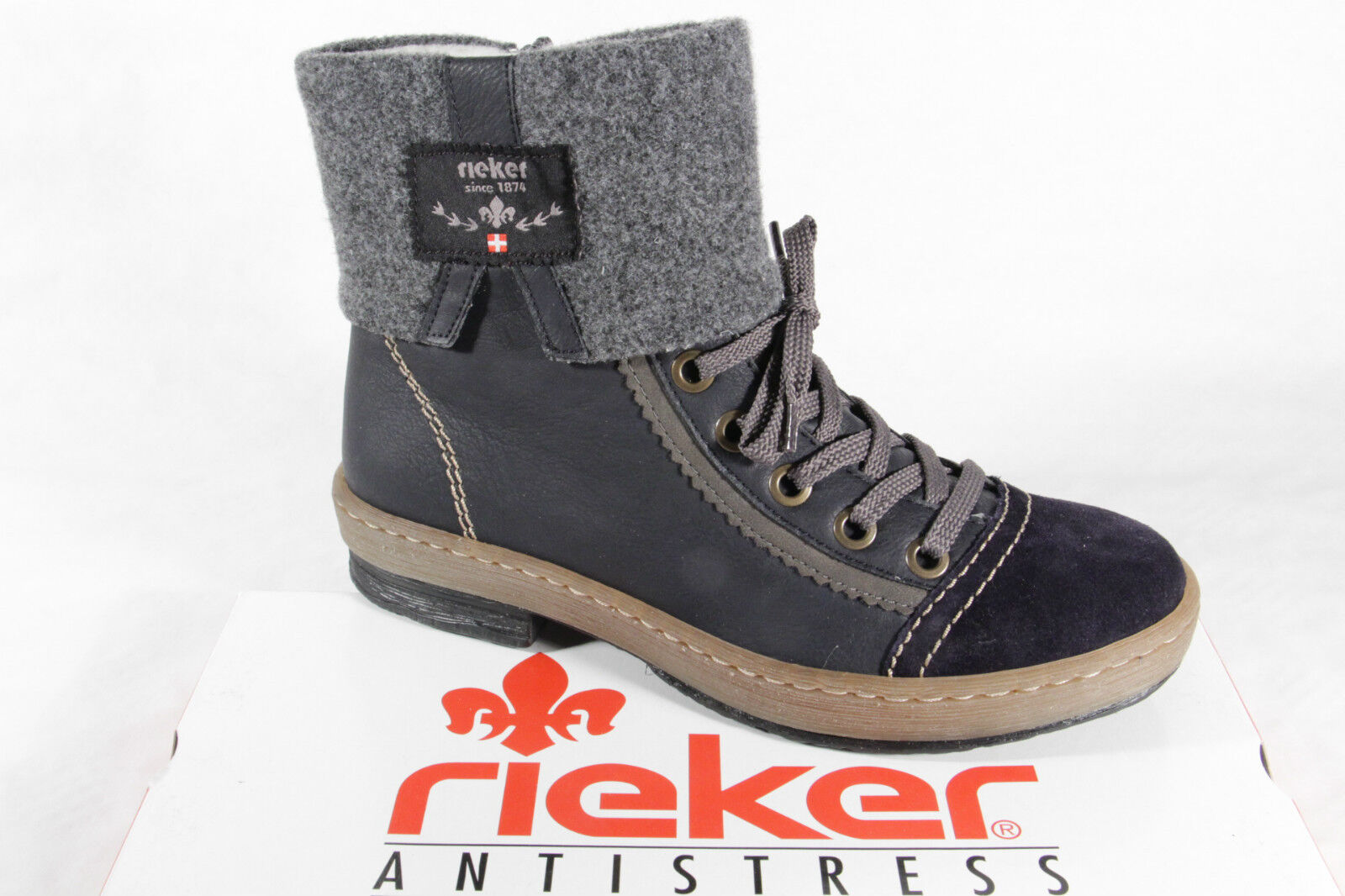 Rieker Women's Boots Z6774 Boots Ankle Boot Winter Winter Winter Boots bluee NEW 9fbad8
