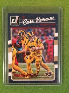 CASE-KEENUM-RAMS-Rare-Red-Foil-NFL-Football-Card-2016-Donruss-PressProof-153-SP