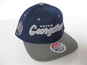 GEORGETOWN HOYAS NCAA VINTAGE SNAPBACK RETRO Z 2-TONE SCRIPT CAP HAT ... a64959d0e63