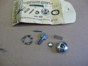 Image is loading VENT-WINDOW-LATCH-REPAIR-KIT-1949-50-DESOTO- & VENT WINDOW LATCH REPAIR KIT 1949 -50 DESOTO CHRYSLER DODGE ... pezcame.com