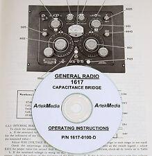 General Radio 1617 Capacitance Bridge Operating Amp Service Manual