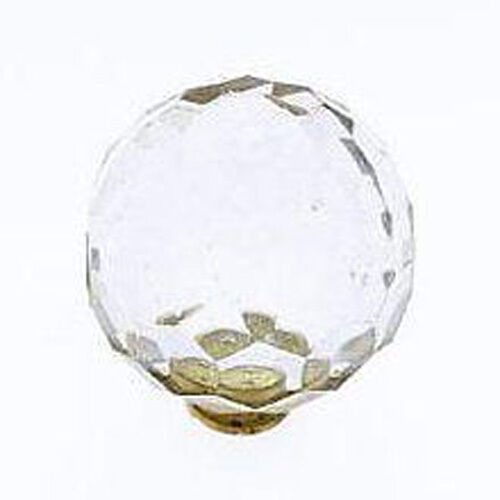 """Glass Knob Cabinet Furniture 1 1//2/"""" Diameter Faceted Crystal Acrylic Ball Knob"""