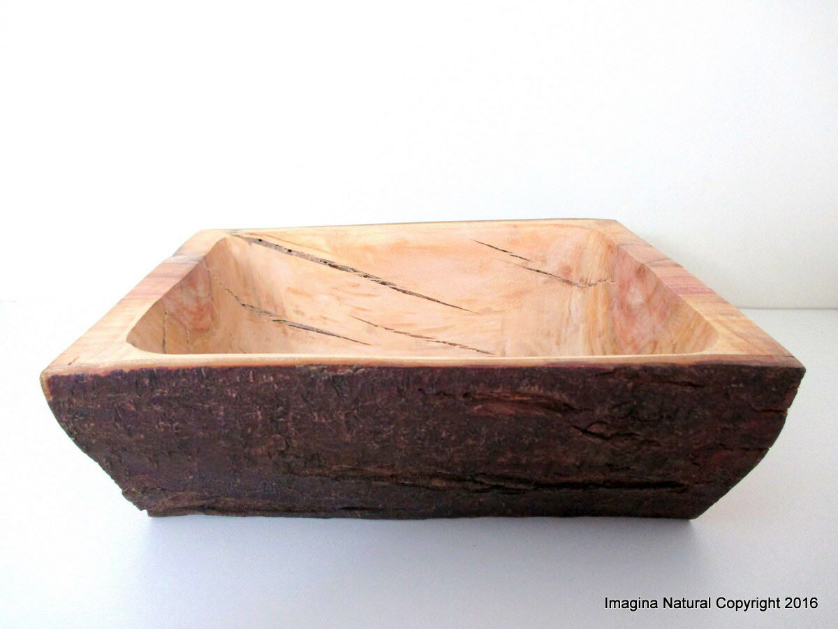 Hand Carved Wooden Bowl, Carved from a tree trunk, Handmade Solid wooden bowl