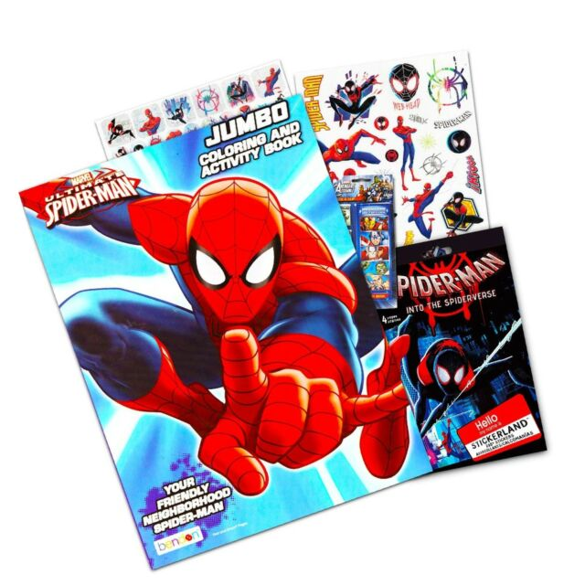Marvel Spiderman Coloring Book With Over 270 Stickers Bonus Superhero Sticker For Sale Online Ebay