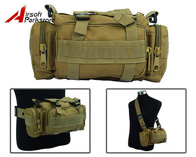 Outdoor Tactical Military Airsoft Molle Utility Shoulder Bag Waist Pouch Handbag
